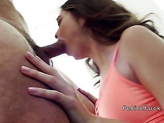 Petite Teen Bangs Eight Inches Dick