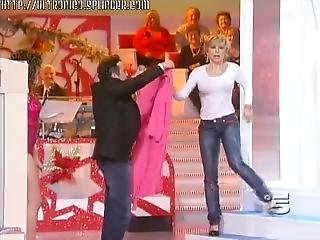 Milf Wet In Jeans And White Shirt In Tv Show