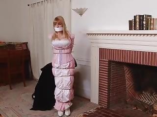 Woman Tied Up In Long Dress