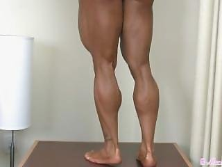 Big Muscular Bombshell Has Legs That Will Leave Ur Jaw On Da Floor