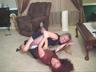 Classic Leg Locked Catfights In Skirts And Dresses
