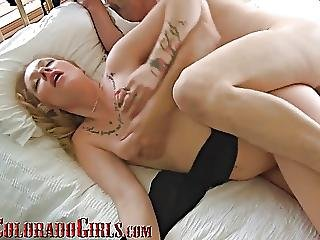 Hot Blonde Milf Cums Hard On My Cock