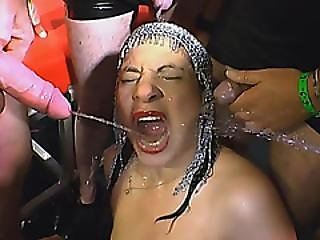 European Burlesque Whore Loves Getting Dirty With Loads Of Warm Cum Pissed