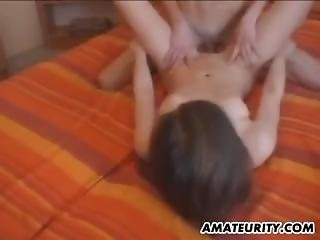 Teen Couple From 6969cams.com Get Fucked With Cum On Tits