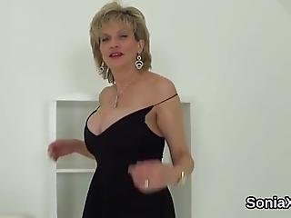 Full Breasted Bisexual Wife Gill Ellis Teases Her Heavy Boobs And Masturbates Juicy Snatch In Lingerie