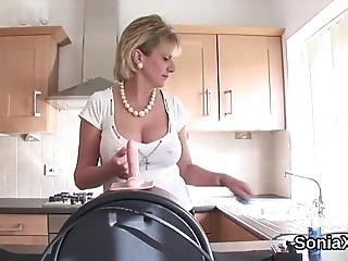 Huge Titted Bisexual Spouse Lady Sonia Strokes Her Heavy Balloons And Finger Fucks Narrowed Twat In Undies