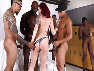 Amber Ivy Interracial Gangbang
