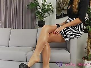 fetish, ben, nylon, truser, strømpebukse, solo, erting