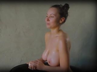 White Girl Bathing In Africa