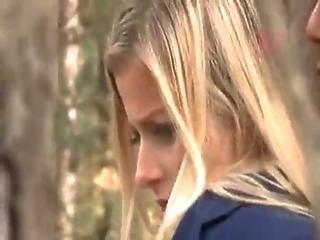 Schoolgirl Get Forced To Got Head In Forest