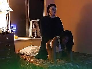Miss Northwest Fucks Intruder Michael Myers