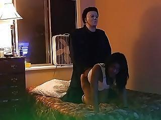 Miss Northwest Fucks Intruder Michael Myers