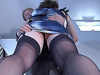 Homosexual Sissies Menacing-threatening Jacob And Silvester Femaleclothed Crossdresser In Act