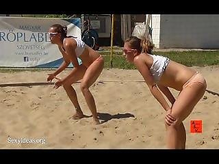 Sexy Girls Playing Volleyball
