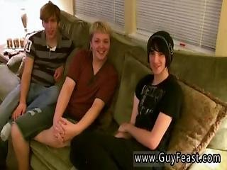 Aron, Kyle And James Are Hanging Out On The Couch And Well-prepped To Have Some Fun