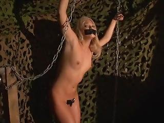 Army Girl Natalia Forrest Chained And Tape Gagged