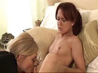 Mature lesbi eats sweet girl