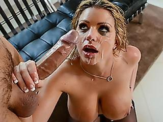 Wild Blonde Brooklyn Chase Gets An Anal Creampie