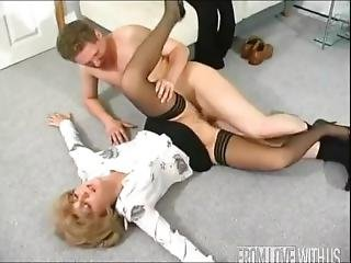 Russian Mature Fuck With His Step Son