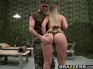 Brazzers  Big Wet Butts  Military Booty Scene Starring Devon Lee And James Deen