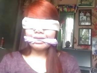 Pinay 2 Blindfold Gagged