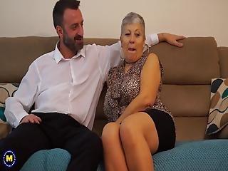 amatør, blowjob, bedstemor, matur, milf, mor, fræk, sex, ung