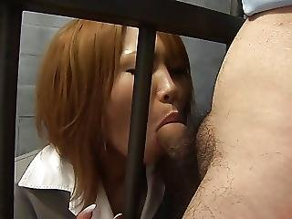 Beautiful, Blowjob, Dick, Facial, Japanese, Prison, Redhead, Teen