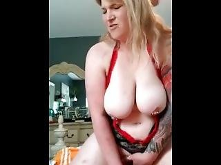 Sexy Chubby Milf Rides Dildo And Squirts