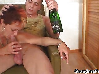 Cumshots On The Old Slut