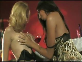 Two Gorgeous Lesbians Have Fun With Their Young Pussies