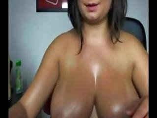 Big Tits Anal Dildo On Webcam