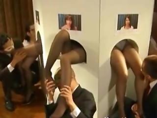 Nylon Legs Gloryhole