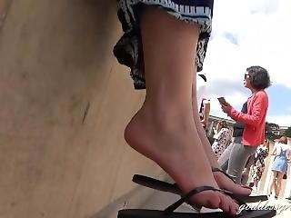 Goddess Grazi Feet In Paris