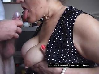 British Mature Amateur Housewife Takes Her First Oral Cream Pie For Cash