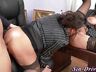 Glam Babe Licks Up Cum