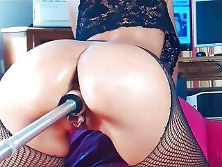 Watching Herself Squirt With Machine Many Times