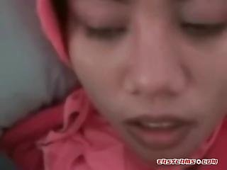 Teen Indonesian Maid Trying White Dick First Time