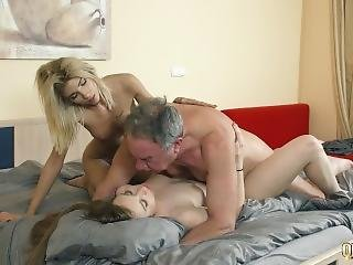 Mistress Hides In The Closet Then Joins In For Hardcore Threesome Fuck