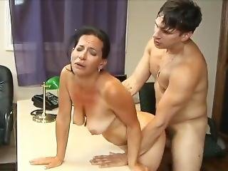 Stunning 63yo Mature Mom With Hot Body Having Orgasm With Her 22yo Boss