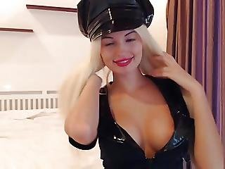 Sexysweetnastya Teasing In New Cop Outfit