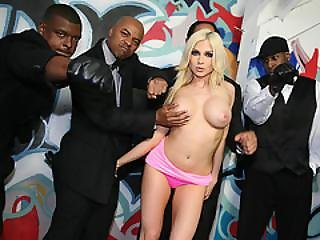 Christie Stevens Sucks Black Cocks Before Facial Cumshot