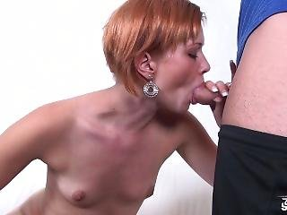 Fakeshooting - Tall Short Hair Redhead Easy Give Her Pussy To Fuck