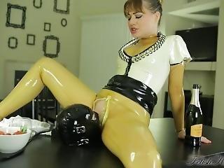 Rubber Catsuit Slave Bondage