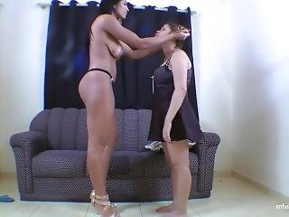Mistress Tramples Ugly Slavegirl And Pees In Her Mouth