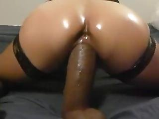 Big Black Dildo Loving Latina Milf Riding Huge Sex Toys - 6