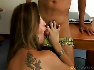 A Guy Touches Her Anal With My Finger