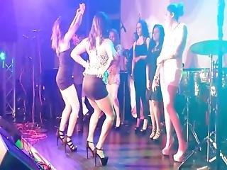 Ass, Babe, Brunette, Dancing, Heels, Latina, Mexican, Miniskirt, Panties, Sexy, Skank, Skirt, Slut, Thong, Upskirt