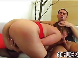 Old Lady Fucked On Bed Sexy Lingerie Doggy Style