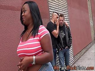 Fat Black Babe Swallows
