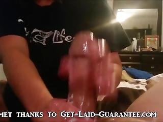 She Uses Her Hands To Make Him Cum Hard.
